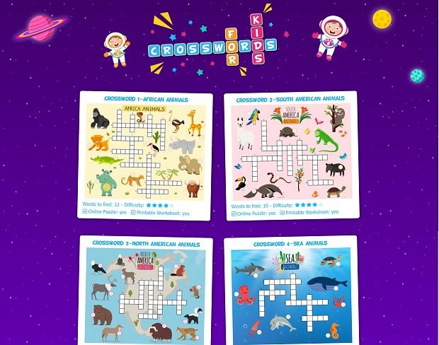 Easy & Fun Crosswords for Kids