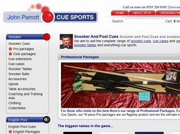 http://www.johnparrottcuesports.com/ website