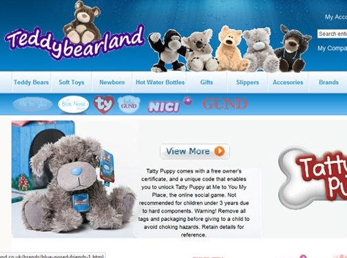 https://www.teddybearland.co.uk/ website