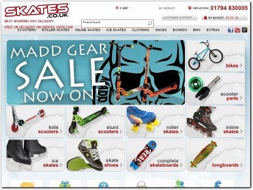 http://www.skates.co.uk website
