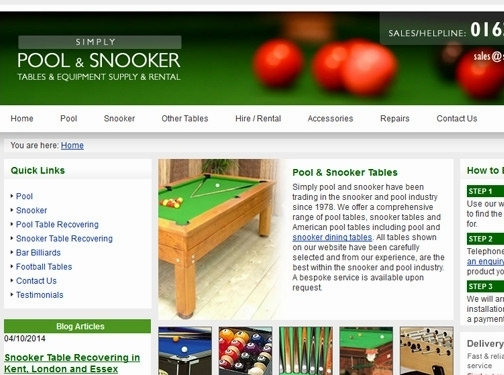 https://www.simplypoolandsnooker.com/ website